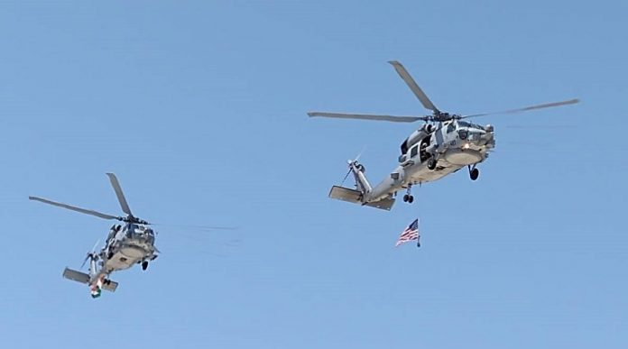 US Navy Hands Over MH-60R Helicopters to India